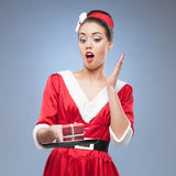 Dona de casa retro alegre Foto de Stock Royalty Free