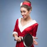 Dona de casa retro alegre Fotografia de Stock Royalty Free