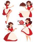 Dona de casa retro dos desenhos animados Foto de Stock Royalty Free