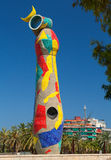 `Dona i Ocell` Woman and Bird sculpture by Joan Miro Royalty Free Stock Photo