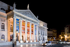 Dona Maria II Theater Rossio Lisbon Stock Images