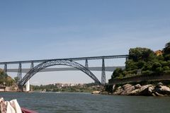 Dona Maria Pia and Sao Joao bridges Royalty Free Stock Images