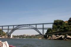 Dona Maria Pia and Sao Joao bridges Royalty Free Stock Images