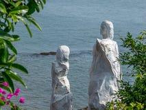Dona Paula Jetty Statue, colpo da Dona Paula Jetty, Panaji, Goa Fotografia Stock