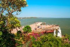 Dona Paula przyl?dka punkt widzenia, Goa zdjęcie stock