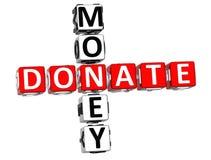 Donaate Money Crossword Stock Images