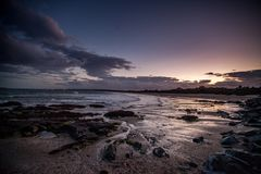 Donabate Beach at sunset. Low tide at Donabate beach at sunset Stock Photography