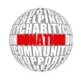 donación Imagen de archivo