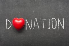 donación imágenes de archivo libres de regalías