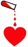 Donación de sangre ilustración del vector