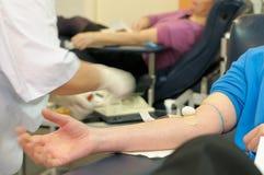 Donación de sangre. Fotografía de archivo libre de regalías