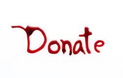 Donación de sangre médica imagen de archivo libre de regalías