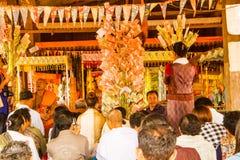Donación para el templo Fotos de archivo libres de regalías