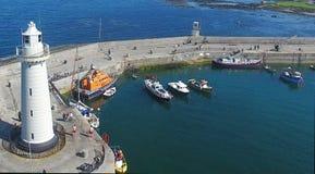 Donaghadee latarni morskiej puszek P??nocny - Ireland zdjęcia stock