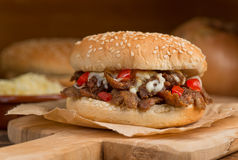 Donair-Burger lizenzfreie stockfotografie