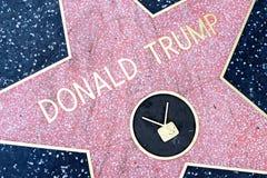 Donald atutu gwiazda na Hollywood spacerze sława obraz royalty free