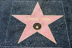 Donald atutu gwiazda na Hollywood spacerze sława fotografia royalty free
