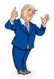 Donald atutu karykatura Obrazy Royalty Free