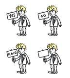 Donald atutu mienia znaka set karykatury Obraz Stock