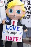 Donald atutu pinata przy protestem Zdjęcie Royalty Free