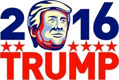 Donald atutu 2016 prezydent Retro ilustracji