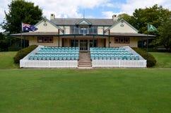 Donald Bradman-Kricket ovaler Pavillon in Bowral NSW Australien lizenzfreie stockfotografie