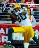 Donald Driver allant chercher le touchdown Photos stock