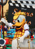 Donald duck. In the disney parade Stock Image