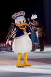 Donald Duck. GREEN BAY, WI - MARCH 10: Donald Duck on skates at the Disney on Ice Treasure Trove show at the Resch Center on March 10, 2012 in Green Bay Stock Image