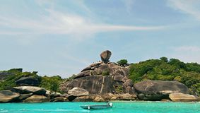 Donald Duck Bay. Landmark of Similan Island,Thailand Royalty Free Stock Images