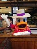Donald Duck bei Disney& x27; s Vero Beach Resort in Florida Lizenzfreies Stockbild