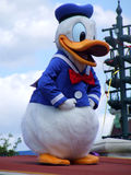 Donald Duck in Disneyland Paris Stockfotos