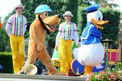 Donald duck and fairy tale friends. PARIS, FRANCE: Disneyland Resort Paris features two theme parks, an entertainment district and seven Disney-owned hotels Royalty Free Stock Photo