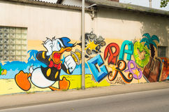 Donald duck graffiti Royalty Free Stock Images