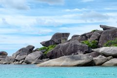 Donald duck rock landmark in similan island Royalty Free Stock Photos
