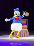 Donald Duck on Skates. GREEN BAY, WI - MARCH 10: Donald Duck on skates at the Disney on Ice Treasure Trove show at the Resch Center on March 10, 2012 in Green Royalty Free Stock Photos