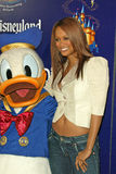 DONALD DUCK,Tyra Banks. Donald Duck and Tyra Banks  at the Disneyland's 50th Anniversary 'Happiest Homecoming On Earth', Disneyland, Anaheim, CA, 05-04-05 Stock Photo