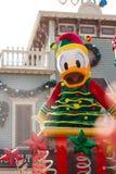 DONALD DUCK viert het Nieuwjaar van Kerstmis Stock Fotografie