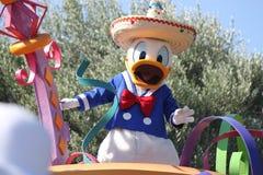 Donald Duck von Disneyland Kalifornien lizenzfreie stockbilder