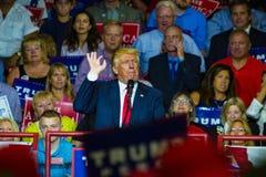Donald J Trump a raduno Fotografia Stock Libera da Diritti