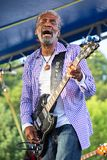Donald Kinsey performs at the 2016 Marquette Area Blues Fetival Stock Images