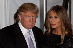 Donald and Melanie  Trump. NEW YORK, NY - APRIL 16: Donald and Melanie  Trump attend at  ``Nine`` New York Premiere Stock Photography