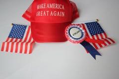 Donald przebija kampania kapeluszu republikanina robi America wielki znowu zdjęcie stock
