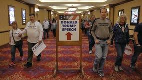 Donald republicano J Reunião presidencial do trunfo a noite antes de Nevada Caucus, do hotel sul do ponto & do casino, Las Vegas, Imagens de Stock