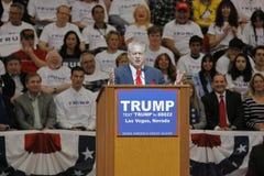 Donald republicano J Reunión presidencial del triunfo la noche antes de Nevada Caucus, del hotel del sur y del casino, Las Vegas, Foto de archivo libre de regalías
