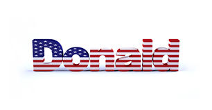 Donald sign with american flag royalty free illustration
