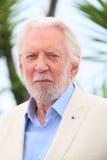 Donald Sutherland s'occupent de la séance photo de fortune Image stock