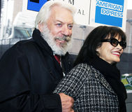 Donald Sutherland and wife Francine Racette Stock Image