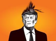 Donald Tramp illustration Stock Image