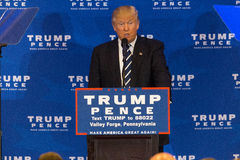 Donald Trump à la forge de vallée Image libre de droits